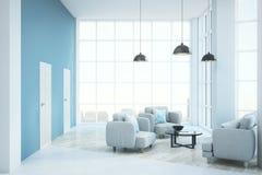Sala de estar brillante contemporánea Foto de archivo libre de regalías