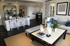 Sala de estar casera de lujo Foto de archivo libre de regalías