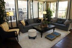 Sala de estar casera de lujo imagen de archivo