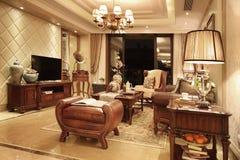 Sala de estar clásica Fotos de archivo