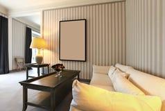 Sala de estar cómoda Imagen de archivo libre de regalías