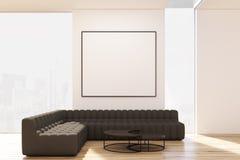 Sala de estar con dos sofás y carteles libre illustration