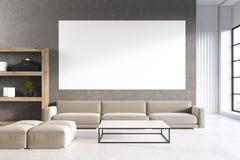 Sala de estar con el cartel, concreto libre illustration
