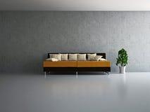 Sala de estar con el sofá Foto de archivo libre de regalías
