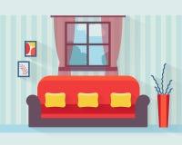 sala de estar con el sofá Imagen de archivo libre de regalías