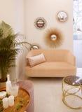Sala de estar con estilo Fotografía de archivo libre de regalías