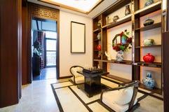 Sala de estar con estilo chino Foto de archivo libre de regalías