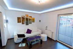 Sala de estar con los acantilados del cuadro de Moher Imagen de archivo