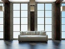 Sala de estar con muebles ilustración del vector