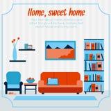 Sala de estar con muebles Fotos de archivo