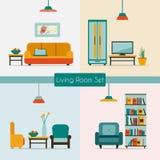 Sala de estar con muebles Fotografía de archivo