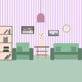 Sala de estar con muebles Fotografía de archivo libre de regalías