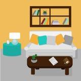 Sala de estar con muebles Imágenes de archivo libres de regalías