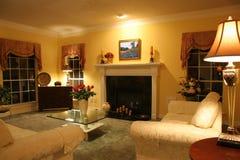 Sala de estar contemporánea Fotografía de archivo