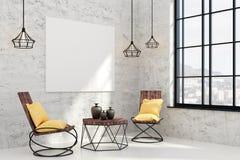 Sala de estar contemporánea con el cartel vacío libre illustration