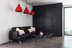 Sala de estar contemporánea con el espacio de la copia Foto de archivo libre de regalías