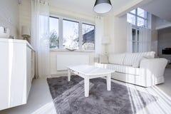 Sala de estar contemporánea en el apartamento Imagenes de archivo