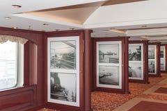 Sala de estar da foto do navio de cruzeiros Foto de Stock Royalty Free