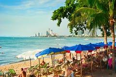 Sala de estar da praia de Pattaya, Tailândia Imagens de Stock Royalty Free
