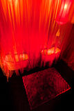Sala de estar de beleza com estilo chinês fotografia de stock royalty free
