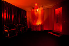 Sala de estar de beleza com estilo chinês fotografia de stock