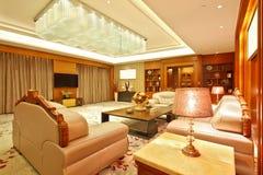 Sala de estar de la habitación presidencial fotografía de archivo libre de regalías