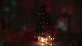 Sala de estar de la Navidad almacen de video