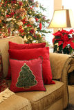 Sala de estar de la Navidad Foto de archivo libre de regalías
