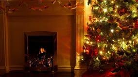 Sala de estar de la Navidad almacen de metraje de vídeo