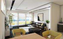 Sala de estar de la opinión del mar Foto de archivo
