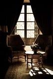 Sala de estar de la vendimia fotografía de archivo
