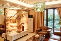 Sala de estar de lujo Fotos de archivo libres de regalías