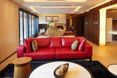 Sala de estar de lujo moderna Imágenes de archivo libres de regalías