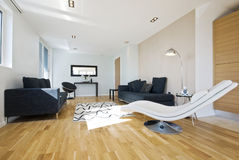 Sala de estar de lujo moderna Fotos de archivo