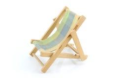 Sala de estar de madeira do chaise em um fundo branco Imagens de Stock