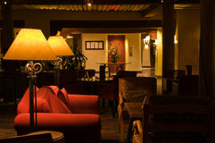 Sala de estar de relaxamento quieta do hotel foto de stock royalty free