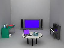 Sala de estar de trabajo del ina Foto de archivo libre de regalías