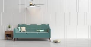Sala de estar del color en colores pastel Imágenes de archivo libres de regalías
