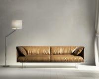 Sala de estar del diseño interior del estilo de Provence Imagen de archivo