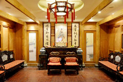 Sala de estar del estilo chino fotos de archivo