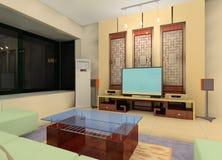 Sala de estar del estilo de China stock de ilustración