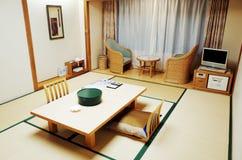 Sala de estar del estilo japonés Foto de archivo libre de regalías