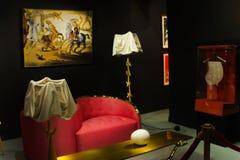 Sala de estar del estilo de Salvador Dali Fotografía de archivo libre de regalías
