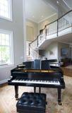 Sala de estar del piano magnífico Fotografía de archivo