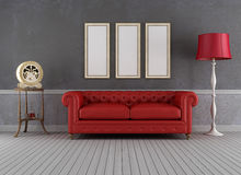 Sala de estar del vintage Fotografía de archivo
