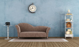 Sala de estar del vintage Imagen de archivo