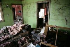 Sala de estar después de Katrina Imágenes de archivo libres de regalías