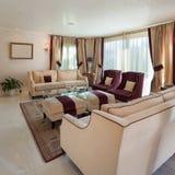 Sala de estar, diseño clásico Foto de archivo