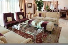 Sala de estar, diseño clásico Imagen de archivo