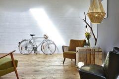 Sala de estar do estilo do vintage fotografia de stock